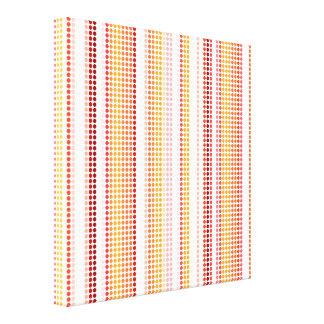 Retro Dots Colorful Stripes Rainbow Canvas