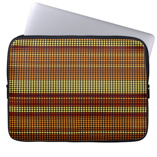 Retro Dots Colorful Stripes Rainbow Computer Sleeve