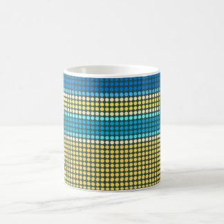 Retro Dots Colorful Stripes Rainbow Mug