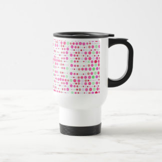 Retro Dots in Pink & Green Travel Mug