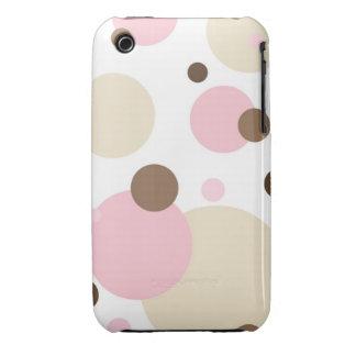 Retro Dots iPhone 3G/3GS Case-Mate Case Pink n Bro