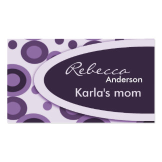Retro Dots Mommy  Calling Cards Double-Sided Standard Business Cards (Pack Of 100)