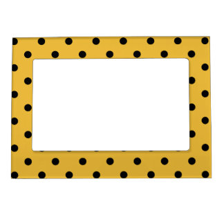 Retro Dots - Mustard & Black Magnetic Frame