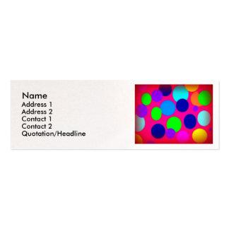 Retro Dots Neon Business Card