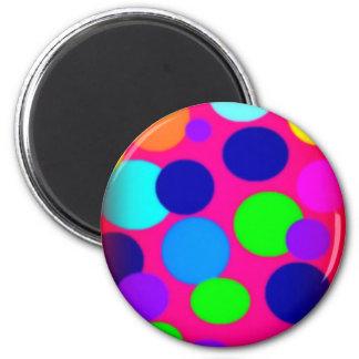 Retro Dots Neon Fridge Magnets