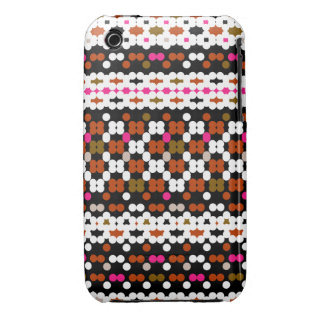 Retro Dots Obsession Pattern iPhone 3 Cases