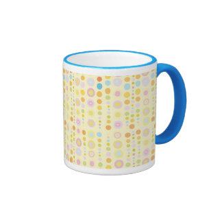 Retro Dots on Yellow Coffee Mug