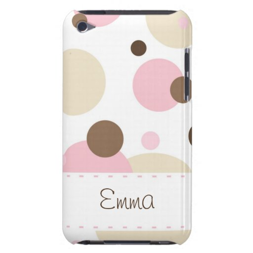 Retro Dots Pink-Brown iPod Touch Case-Mate iPod Touch Cover