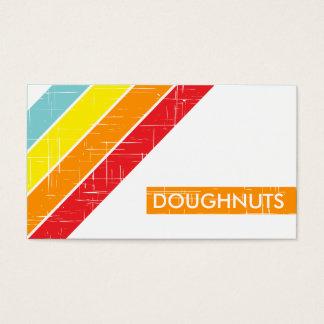 retro DOUGHNUTS loyalty card