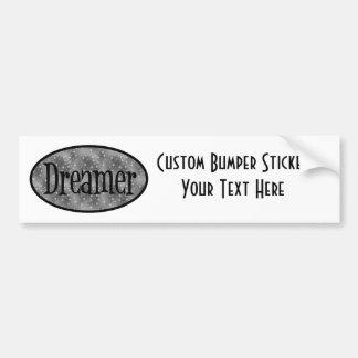 Retro Dreamer Star Logo - B&W Bumper Stickers
