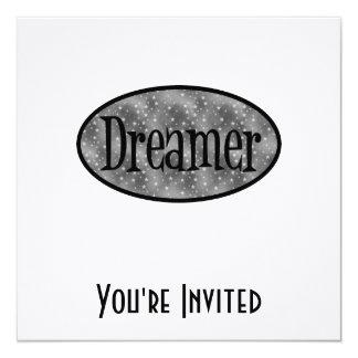 Retro Dreamer Star Logo - B&W Card