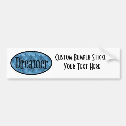 Retro Dreamer Star Logo - Blue Bumper Sticker