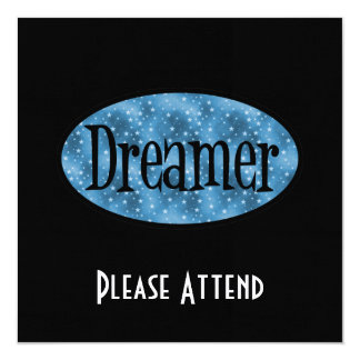 Retro Dreamer Star Logo - Blue Card