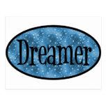 Retro Dreamer Star Logo - Blue Postcard