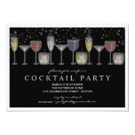 Retro Drinks and Bubbles Cocktail Party Invitation