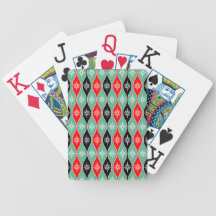 Retro Dripping Baubles - Red, Green, Black Poker Cards