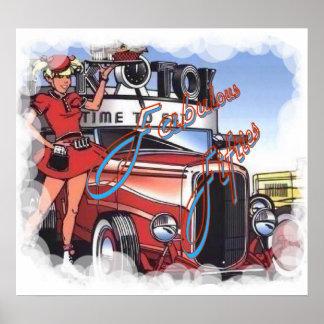 Retro Drive Inn Poster
