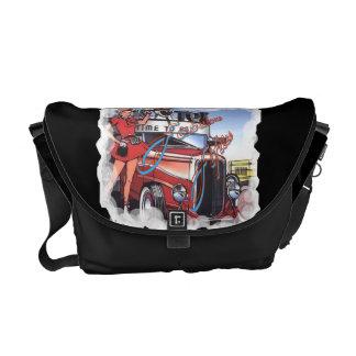Retro Drive Inn Rickshaw Messenger Bag
