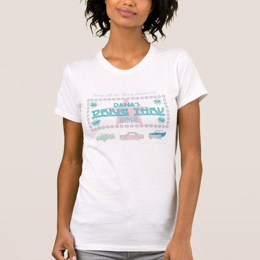 Retro 'Drive-Thru Diner' (Pink) T-Shirt