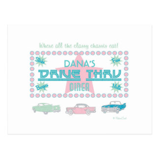 Retro 'Drive-Thru Diner' Postcard (pk)