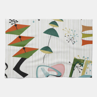 Retro Eames-Era Atomic Inspired Kitchen Towels