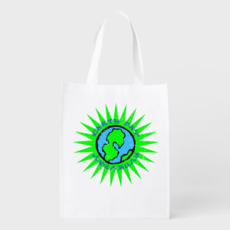Retro Earth Day Everyday Reusable Grocery Bag