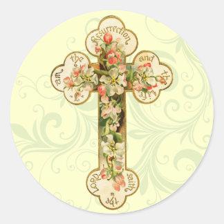 Retro Easter Cross Stickers