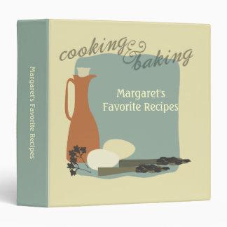 retro eggs asparagus cooking baking recipe binder