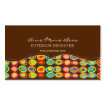 Retro eggs on chocolate  business cards