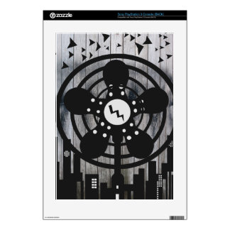 Retro Electric Fan City at Night Skin For PS3 Console