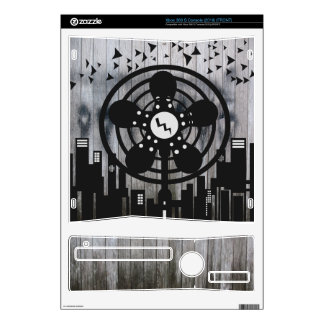 Retro Electric Fan City at Night Skin For The Xbox 360 S