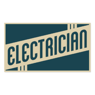 retro electrician Double-Sided standard business cards (Pack of 100)