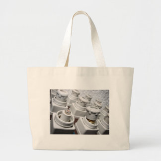 Retro electricity large tote bag