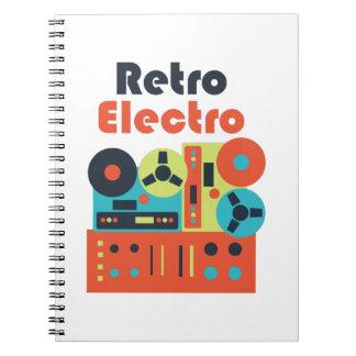 Retro Electro Spiral Note Books