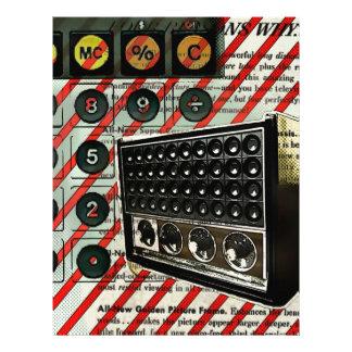 Retro electronics speaker Short Wave Radio Letterhead