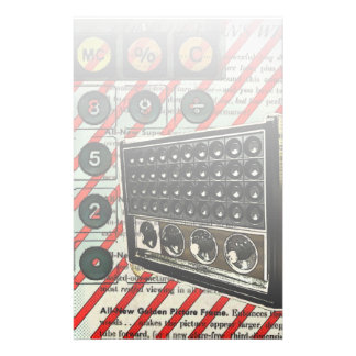 Retro electronics speaker Short Wave Radio Stationery