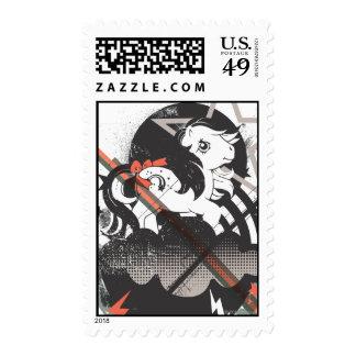 Retro Elements Design Postage Stamp