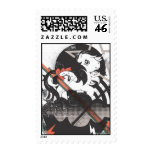 Retro Elements Design Postage Stamps