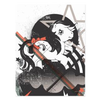 Retro Elements Design Postcard