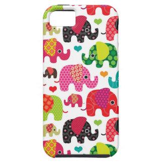 retro elephant kids pattern wallpaper iPhone 5 case