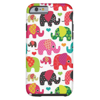 retro elephant kids pattern wallpaper tough iPhone 6 case