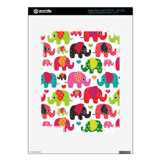retro elephant kids pattern wallpaper iPad 3 skin