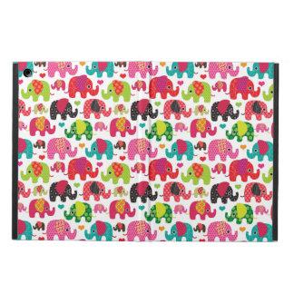 retro elephant kids pattern wallpaper iPad air covers