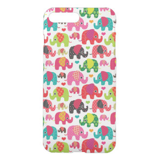retro elephant kids pattern wallpaper iPhone 7 plus case