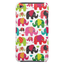 retro elephant kids pattern wallpaper iPod touch case