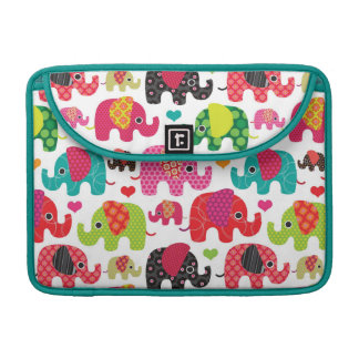 retro elephant kids pattern wallpaper MacBook pro sleeve