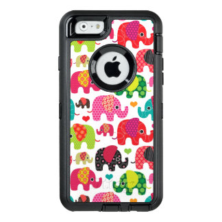retro elephant kids pattern wallpaper OtterBox defender iPhone case