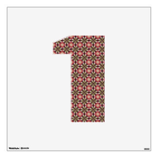 """Retro embroidery 1 wall decal 30""""x30"""""""