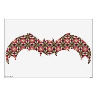 "Retro embroidery bat 30""x45"" wall sticker"