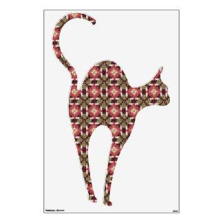 "Retro embroidery cat 45""x30"" wall sticker"